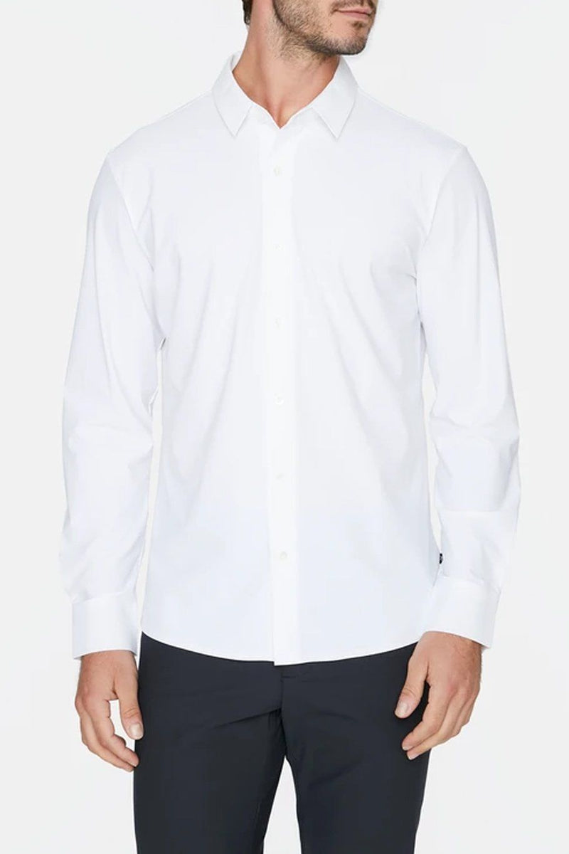 Young Americans 4-Way Stretch Luxseam Shirt - White - Shore
