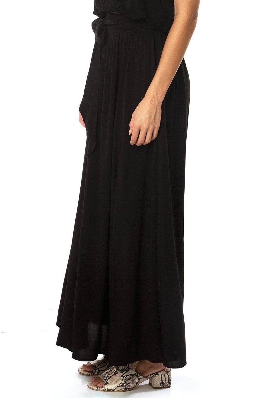 Amalfi Double Slit Skirt - Black - Shore