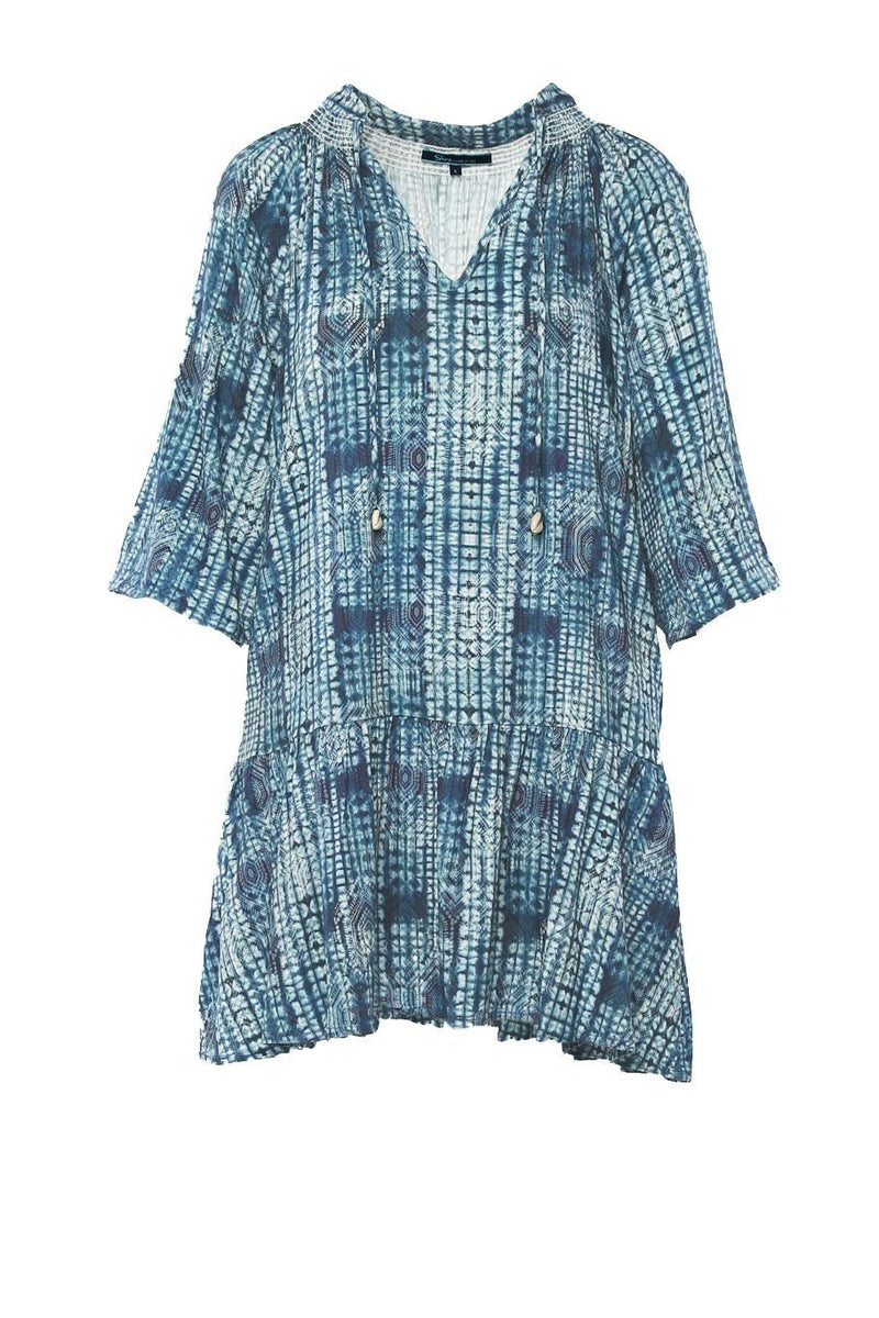Sanibel Dress - Blue Aztec - Shore