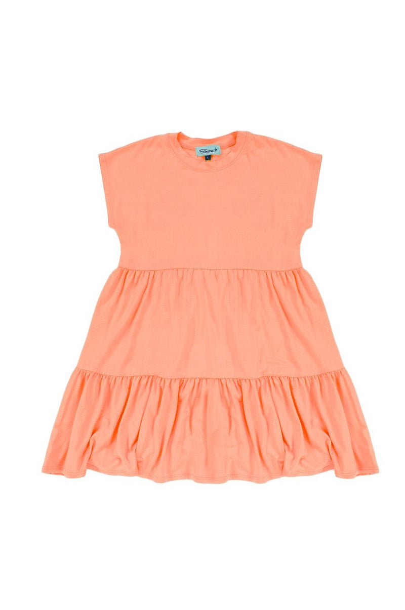 Girls Babydoll Dress - Peach - Shore