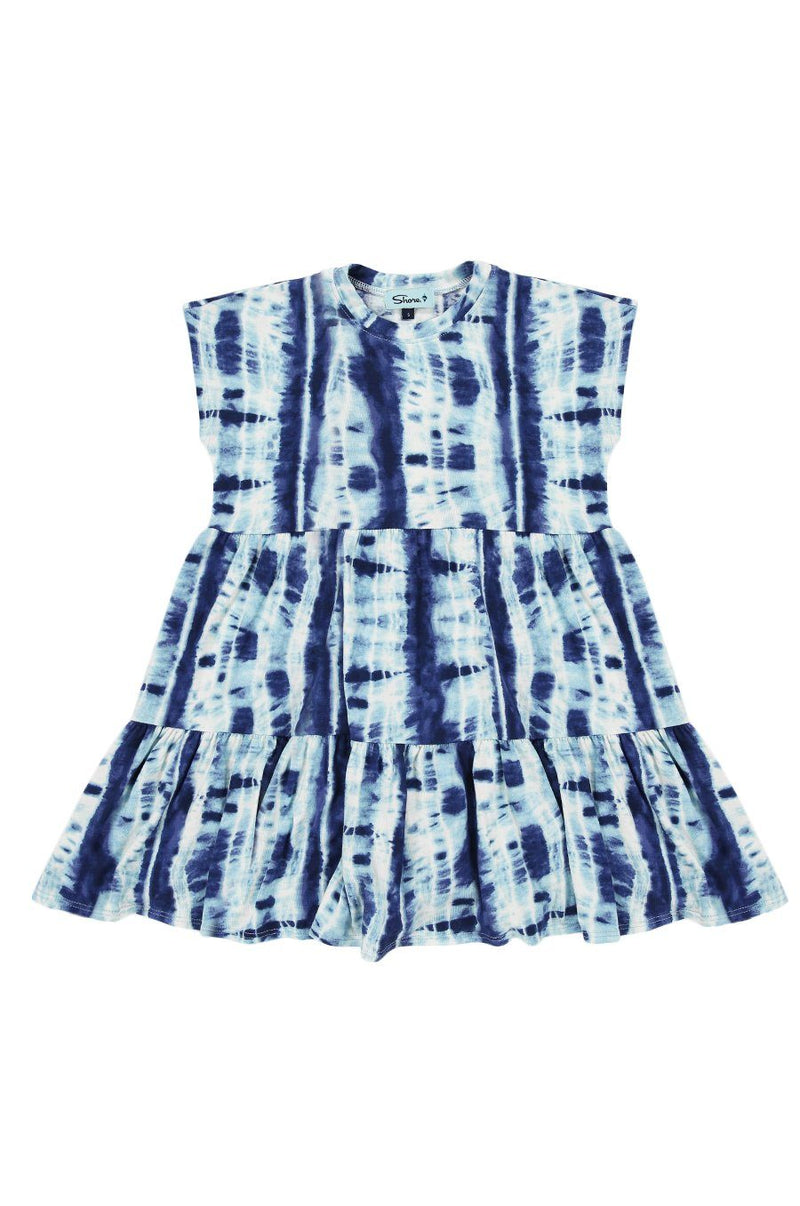 Girls Babydoll Dress - Blue Tie Dye - Shore