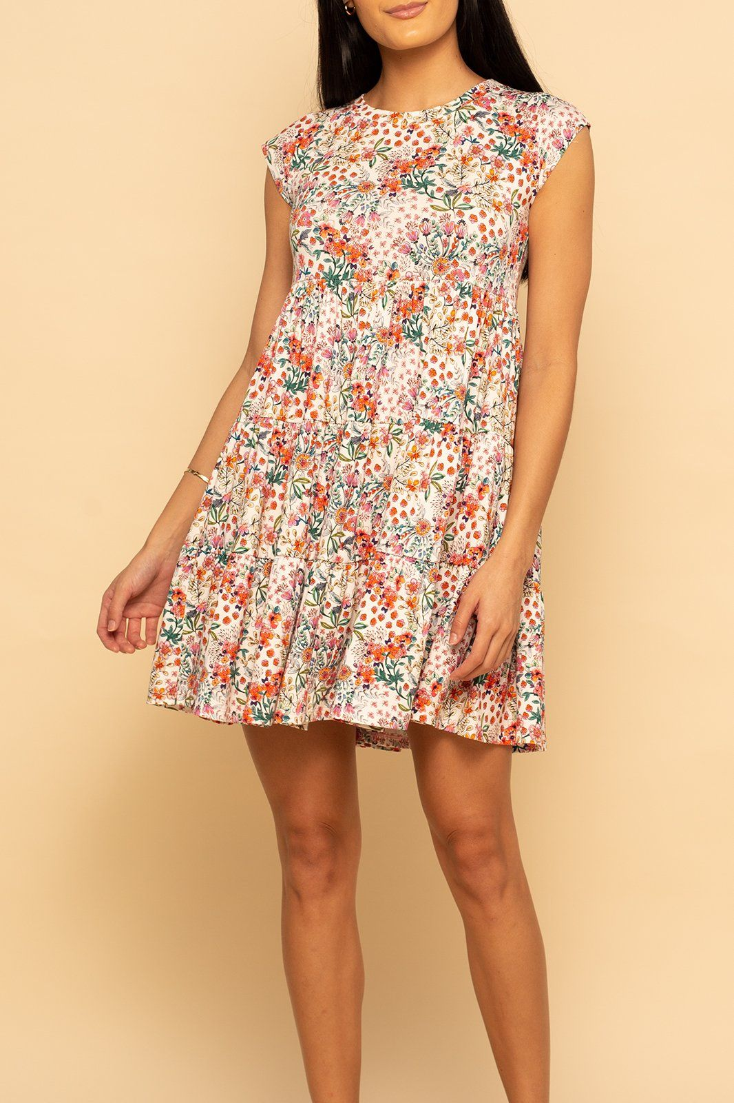Babydoll Dress - Ditsy Colorful Floral - Shore