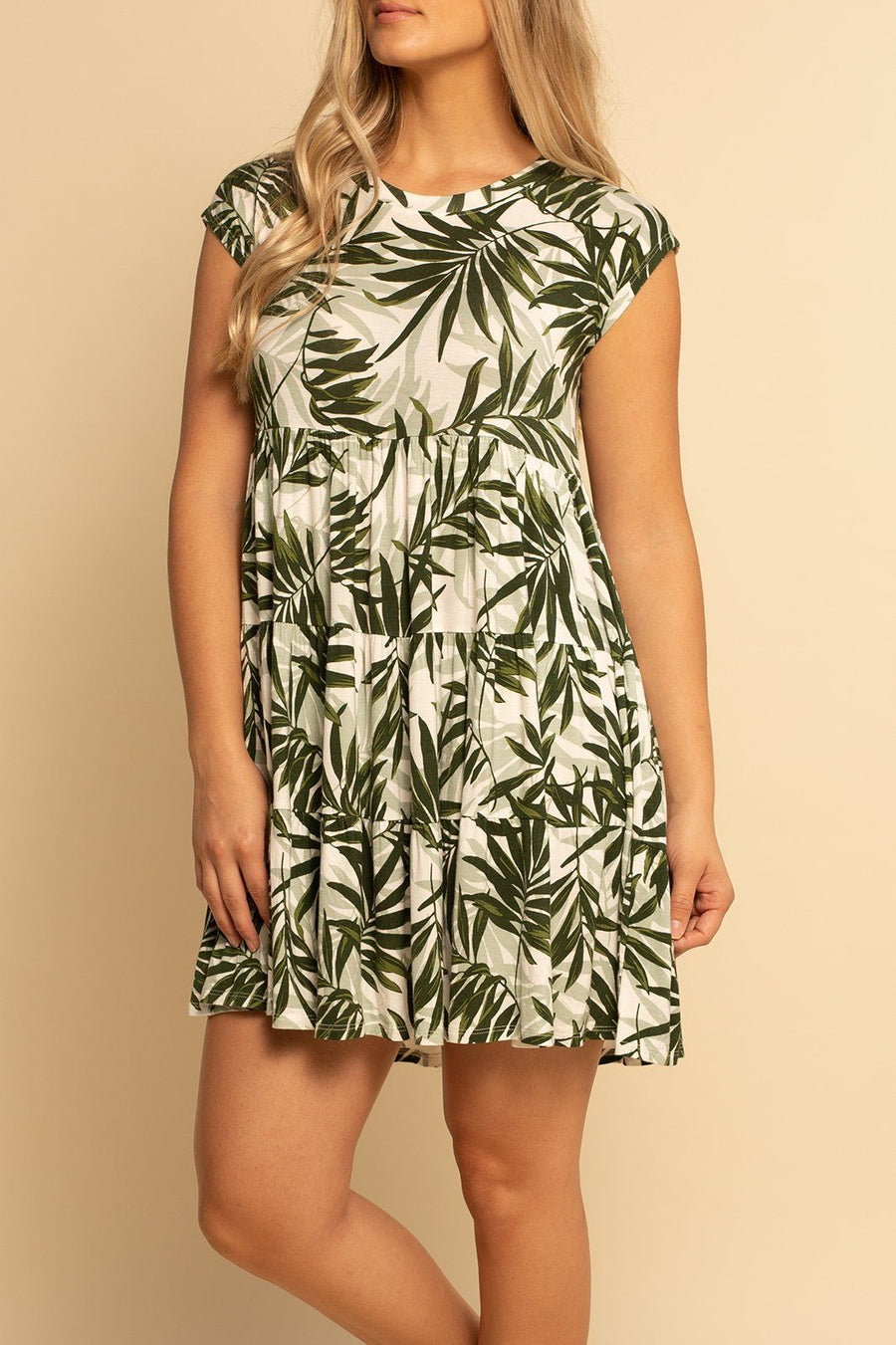 Babydoll Dress - Palms - Shore