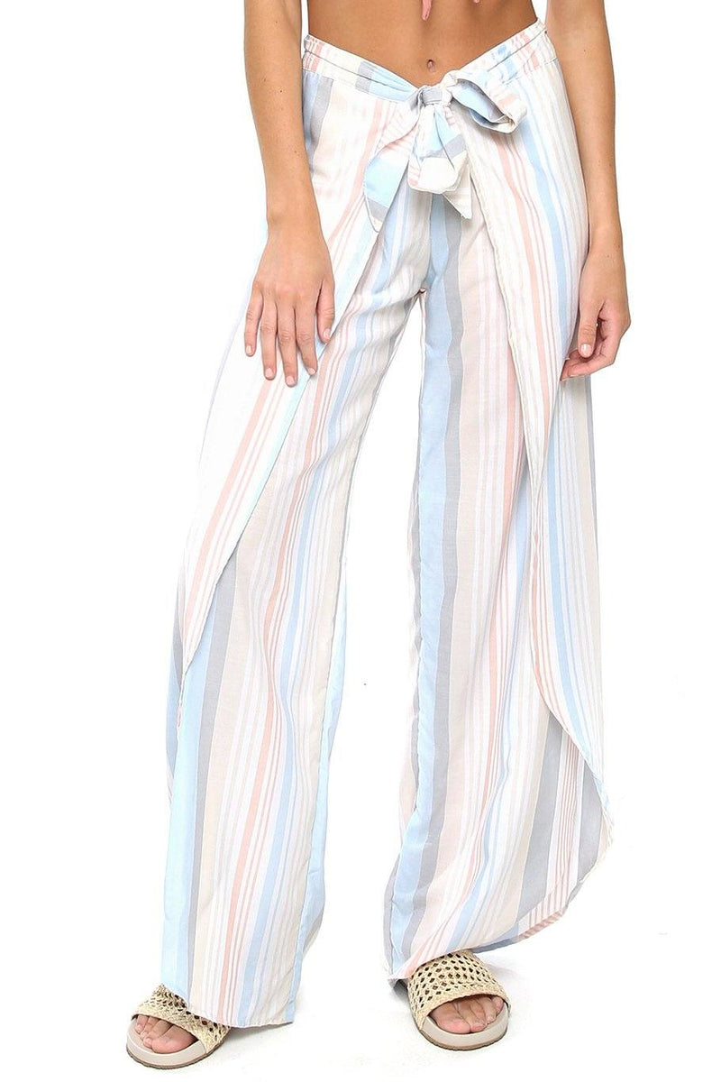 Bella Beach Pant - Sun-drenched Stripe - Shore