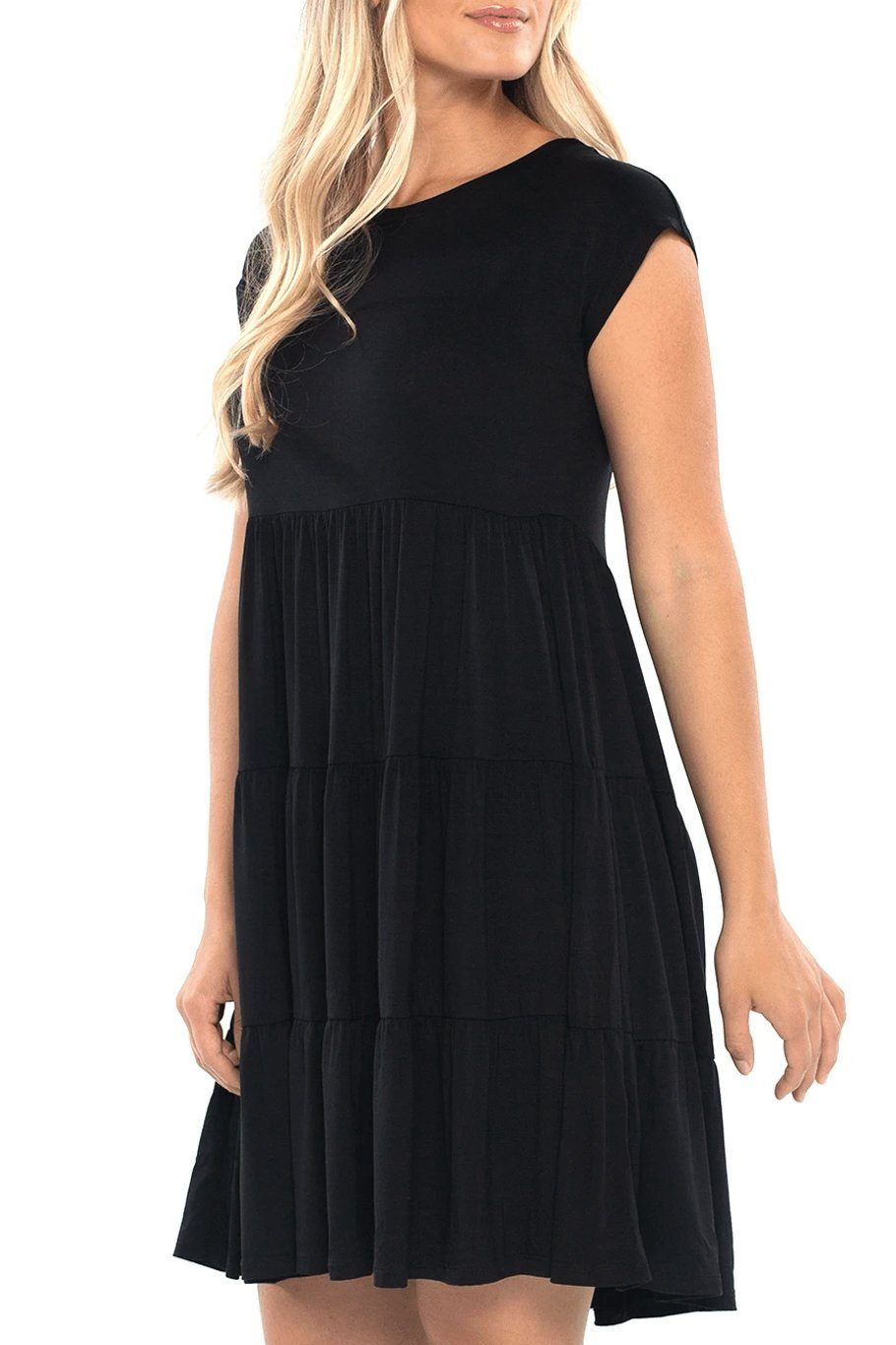 Babydoll Tunic Dress - Black - Shore