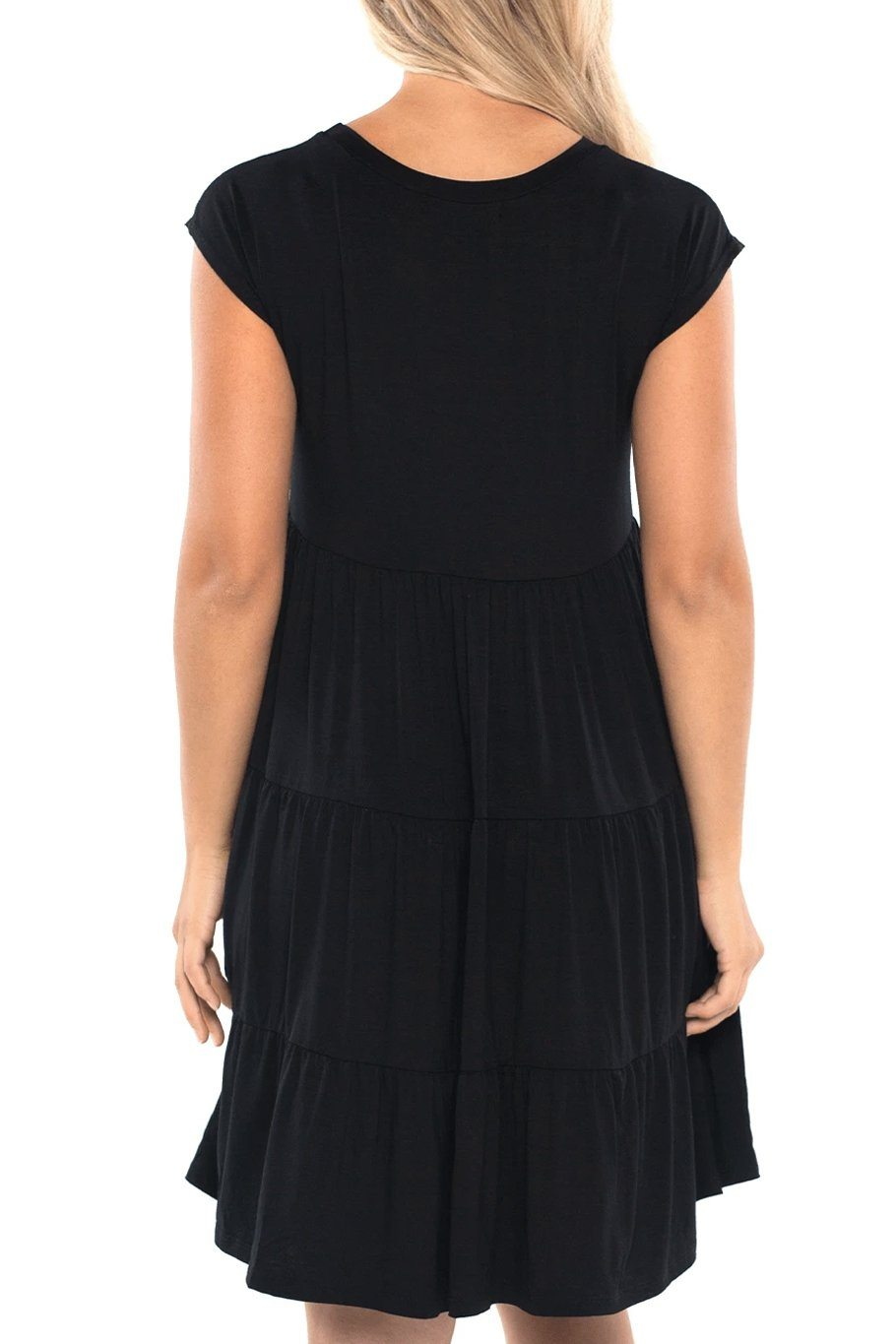 Babydoll Tunic Dress - Black