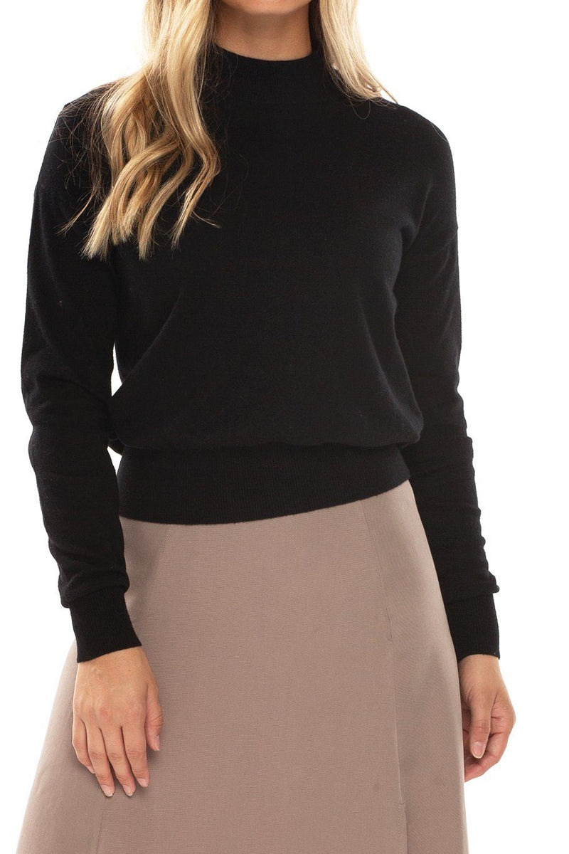 Whistler High Neck Sweater - Black - Shore