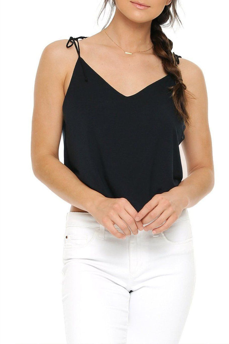 Tiki Tie Top - Black - Shore