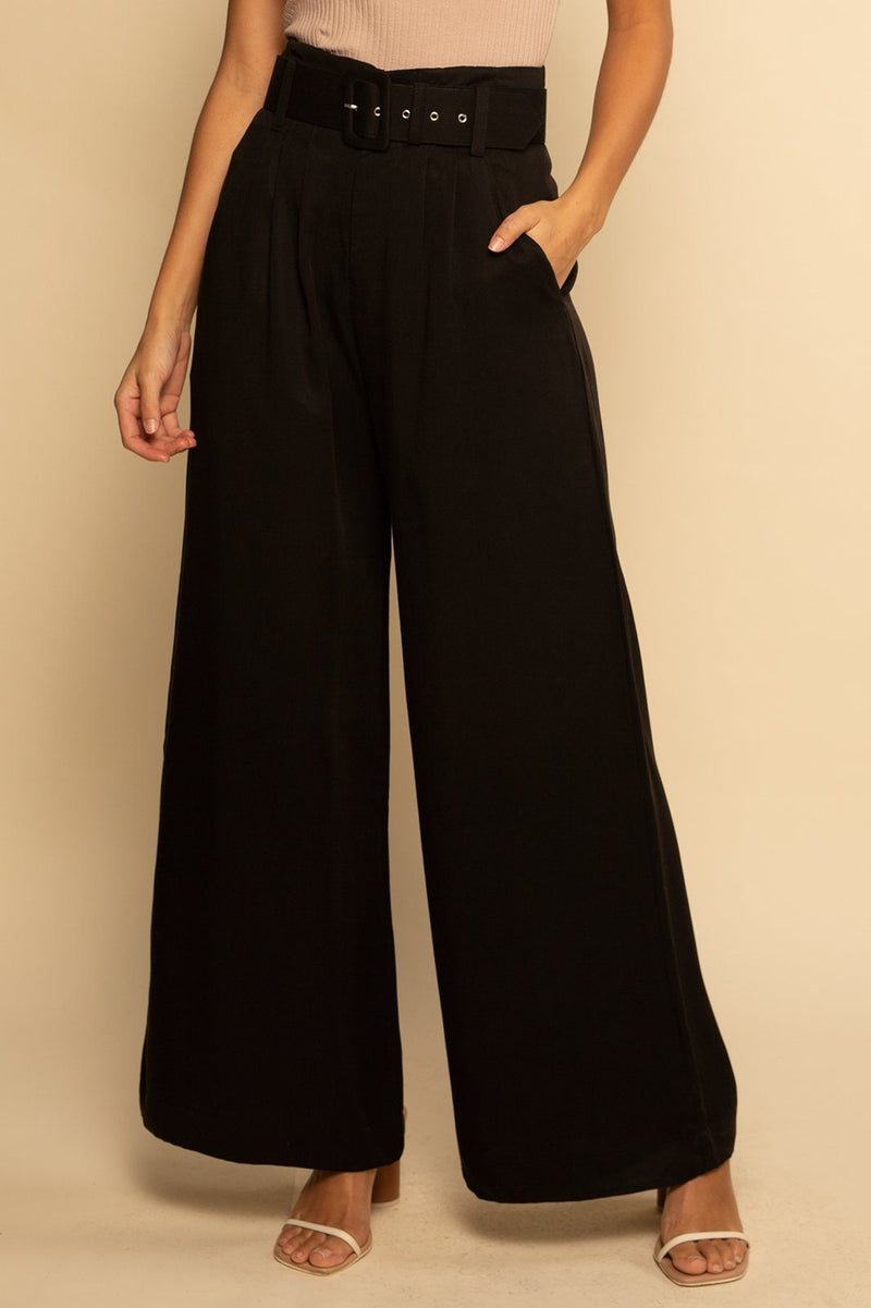 Belted Trouser Pant - Black - Shore