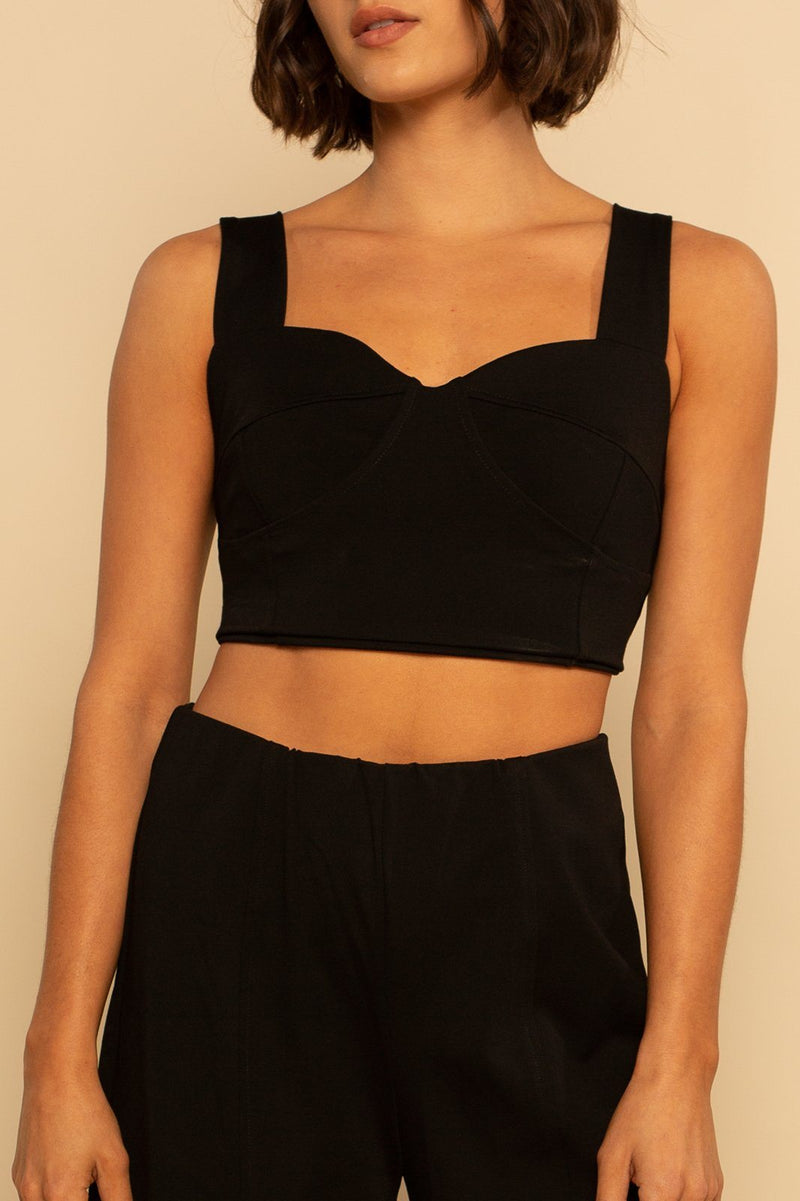 Oahu Bra Crop - Black - Shore