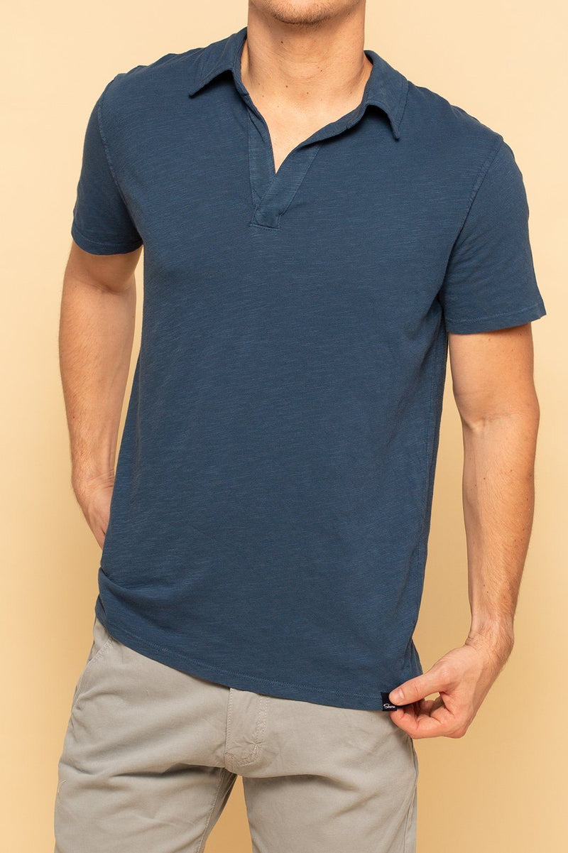 Relaxed Cotton Slub Polo - Insignia - Shore