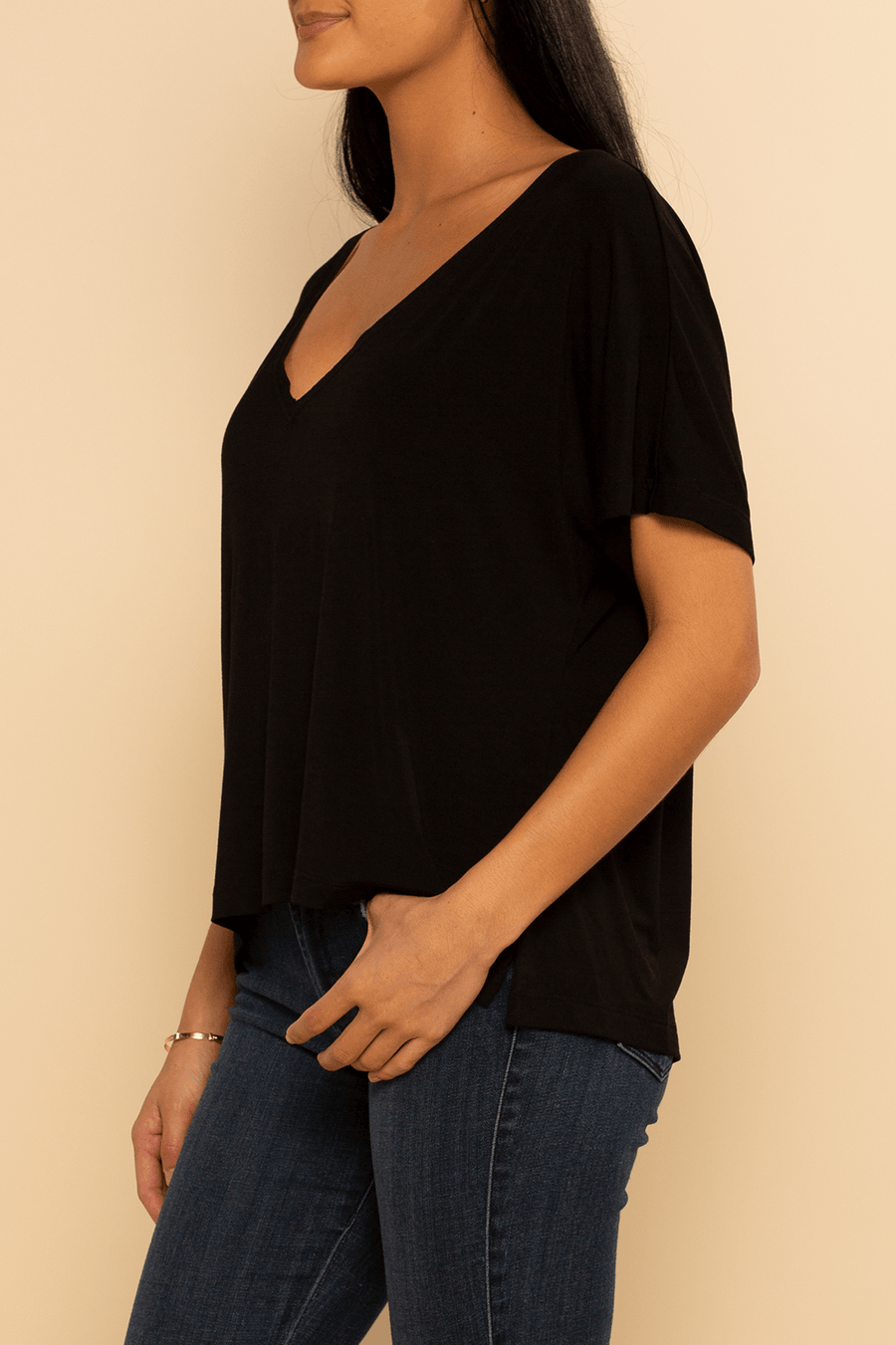 Boca Dolman Blouse - Black - Shore