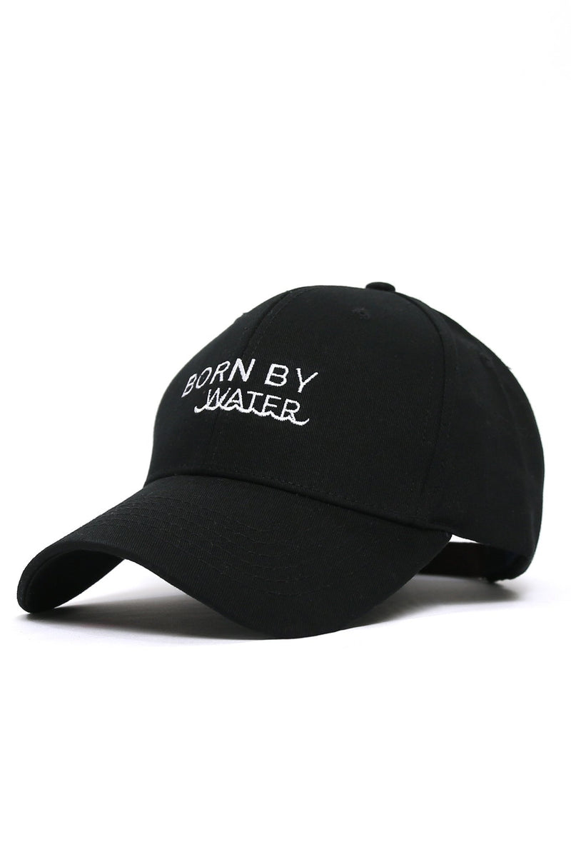 Born By Water Waves Cap - Black - Shore