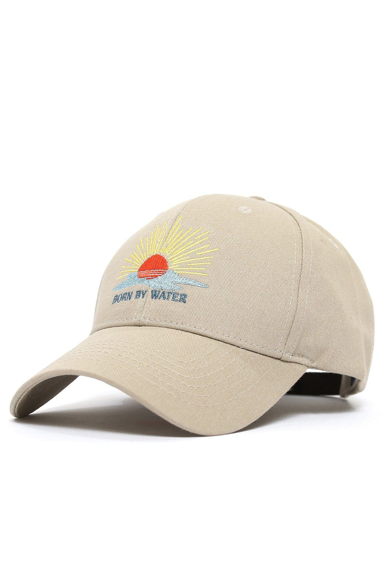 Born By Water Sunset Cap - Khaki - Shore