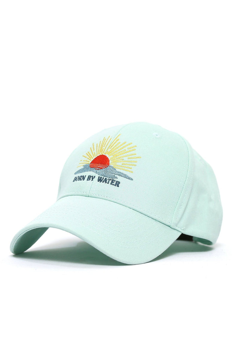 Born By Water Sunset Cap - Mint - Shore