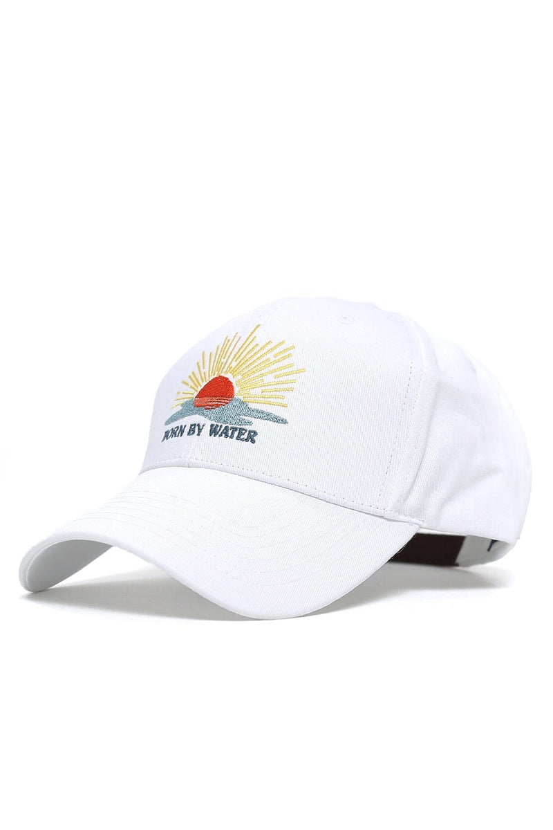 Born By Water Sunset Cap - White - Shore