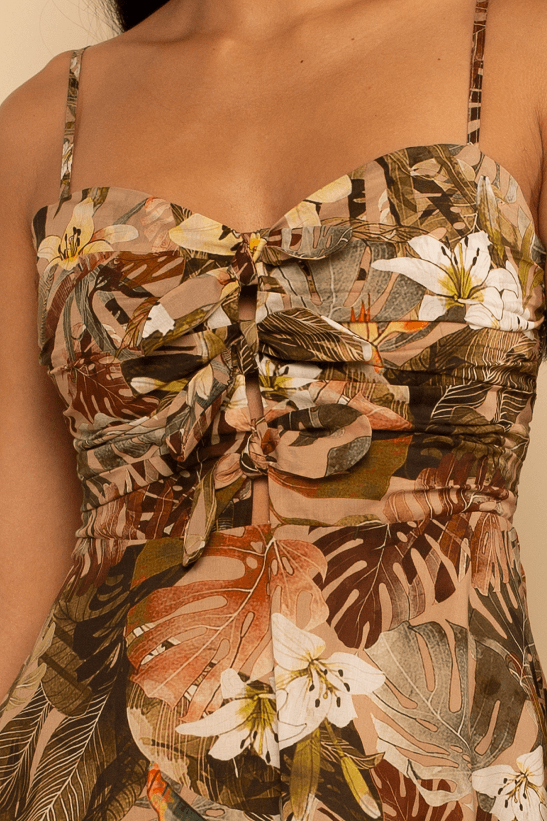 Florence Hi-Lo Dress - Nude Tropical - Shore