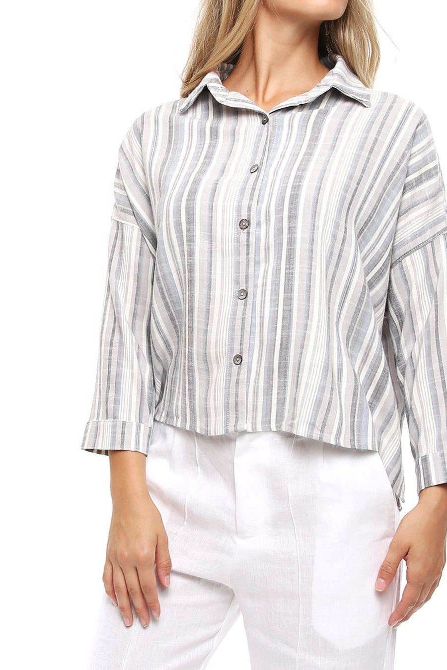 Antigua Top - Vintage Stripe - Shore