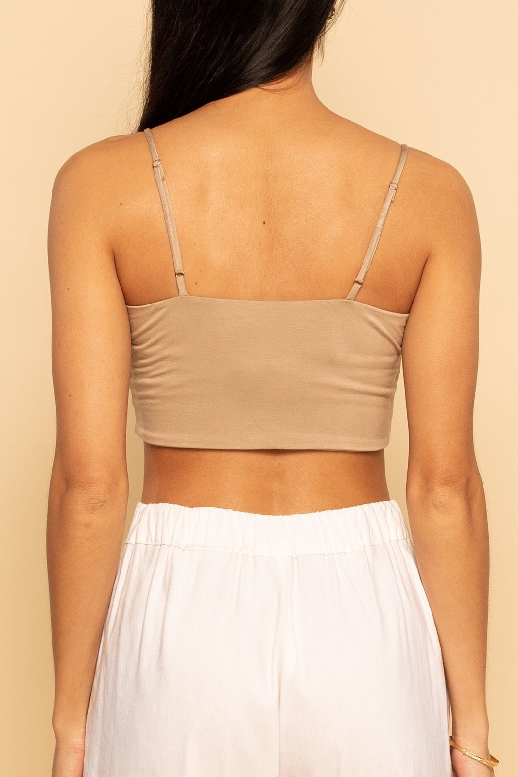 Crop Tank - Cocoa - Shore