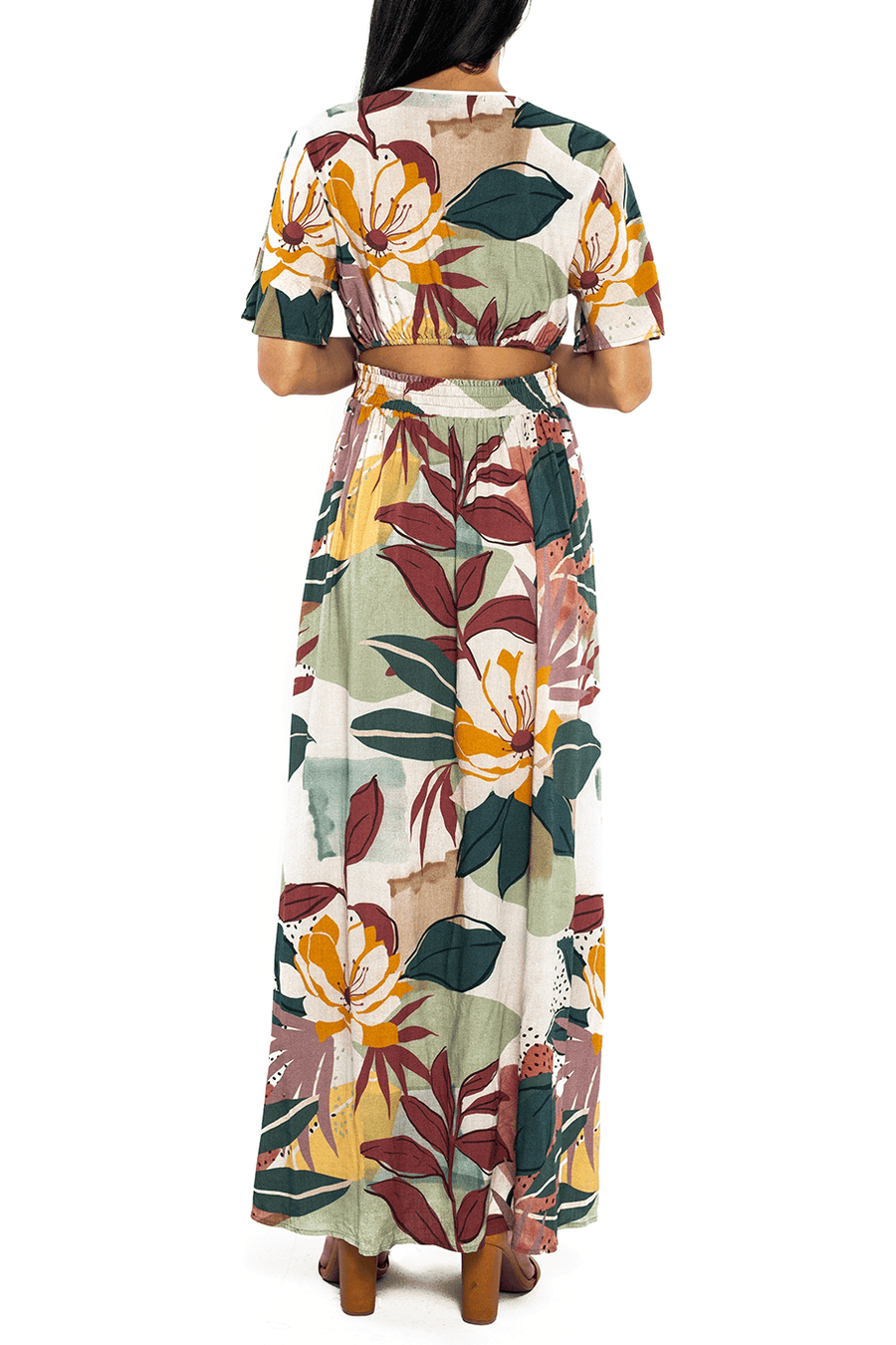 Catalina Cut Out Maxi - Fall Floral