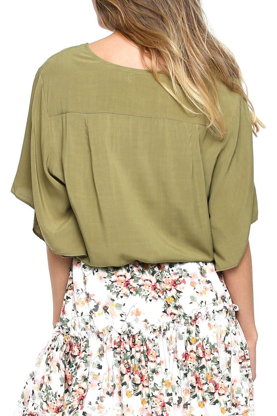 Canary Flutter Sleeve - Moss - Shore