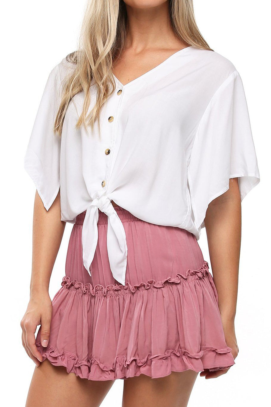Canary Flutter Sleeve - White - Shore