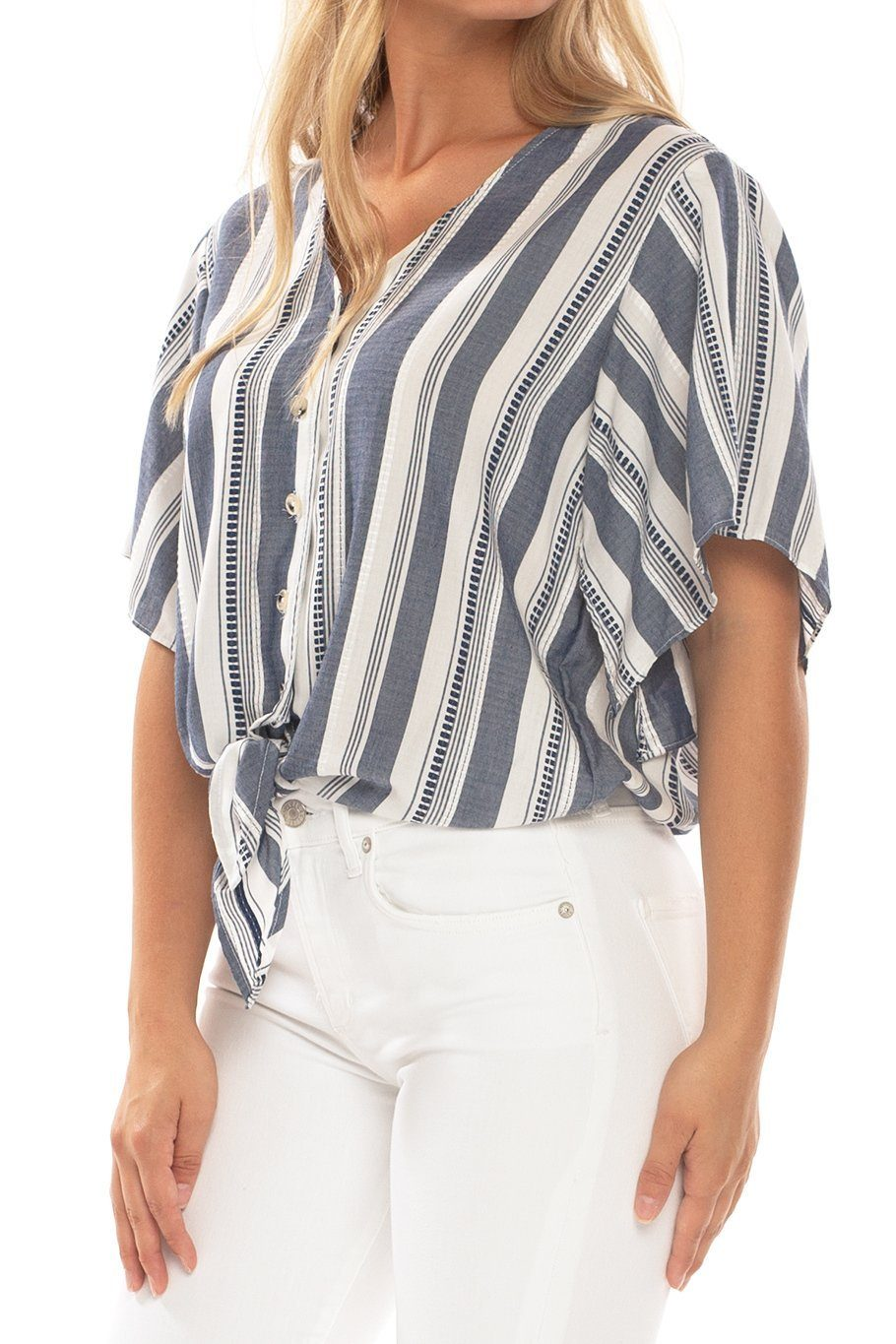 Canary Flutter Sleeve - Sue's Stripe - Shore
