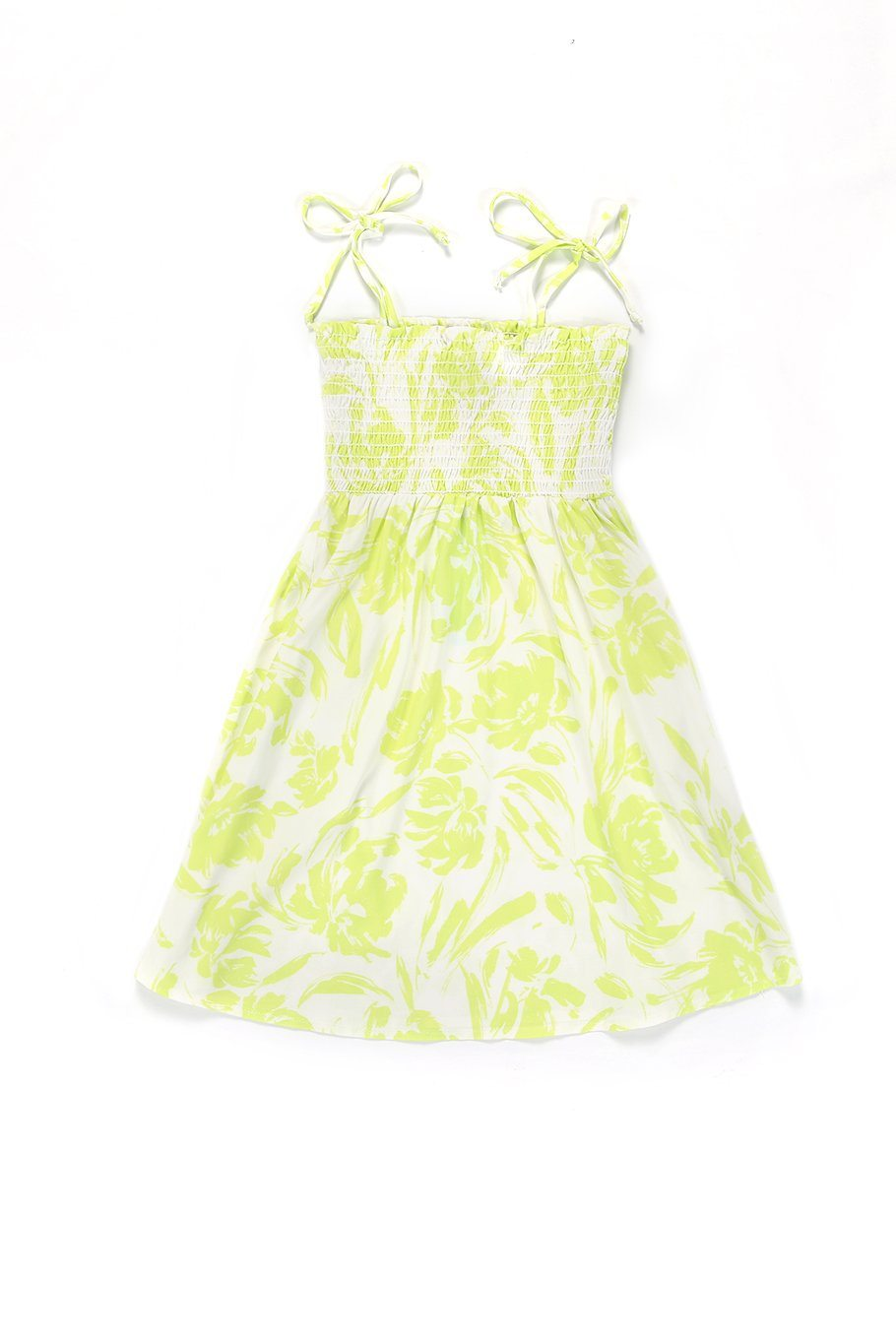 Girls Capri Dress - Yellow Floral