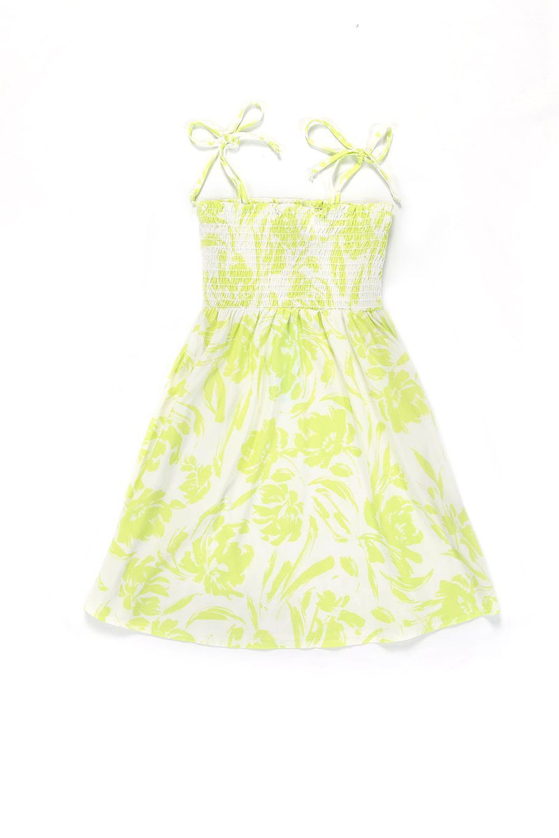 Girls Capri Dress - Yellow Floral - Shore