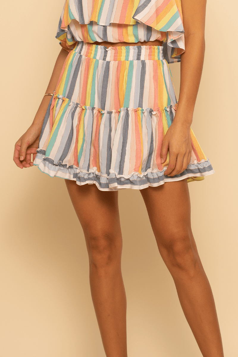 Shoreside Skort - Rainbow Stripe - Shore