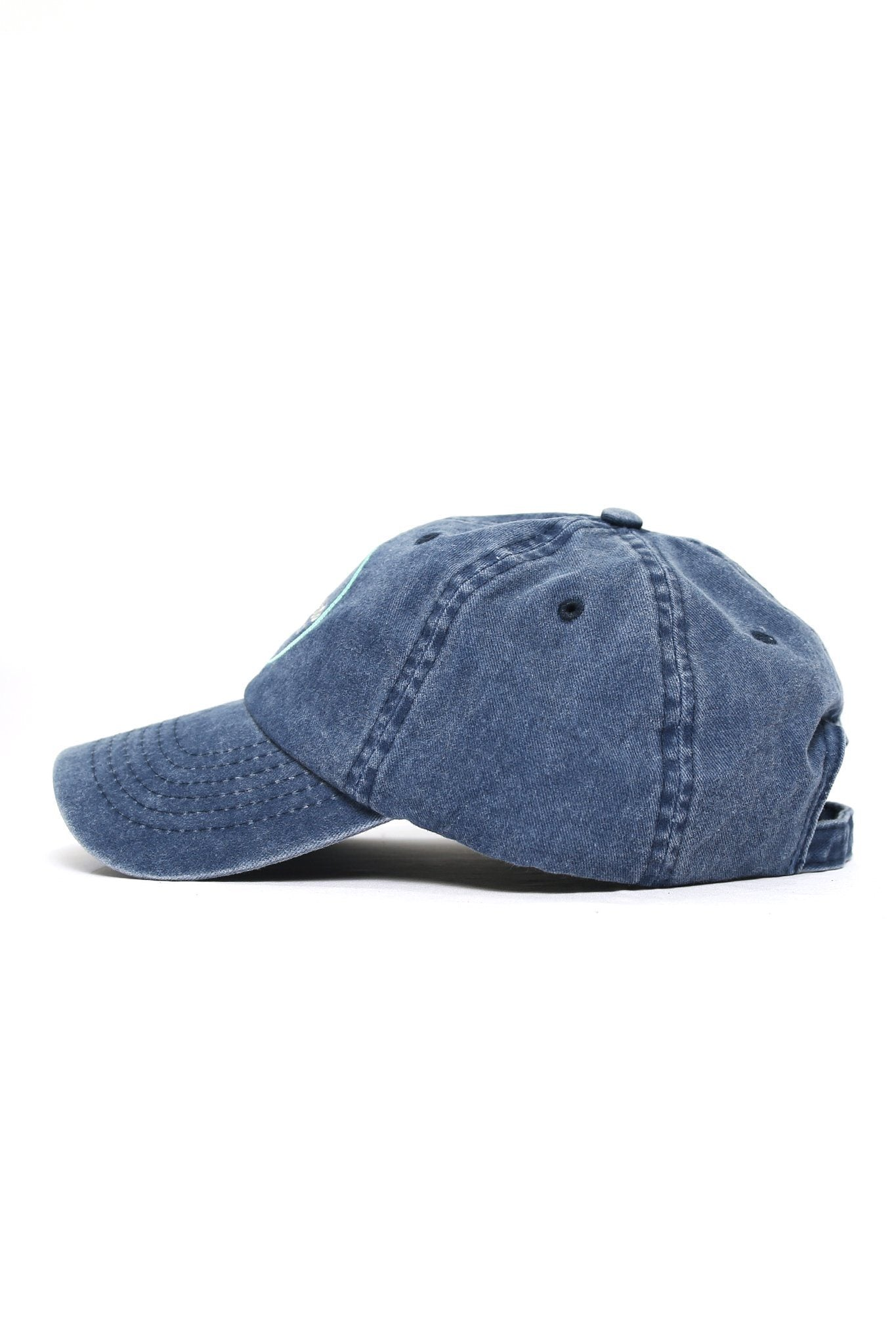 Coast to Coast Embroidered Cap - Denim - Shore