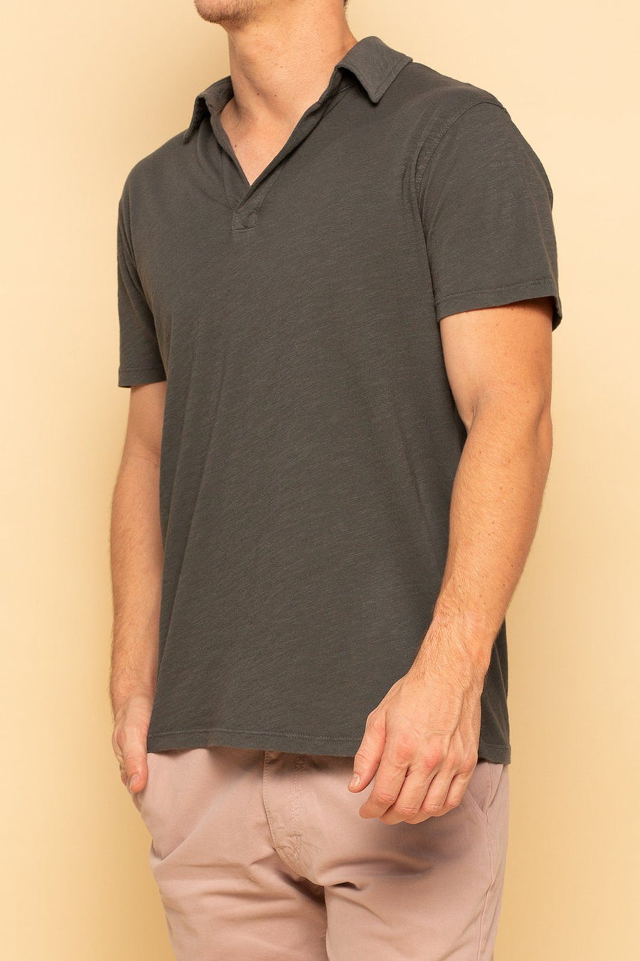 Relaxed Cotton Slub Polo - Castlerock - Shore