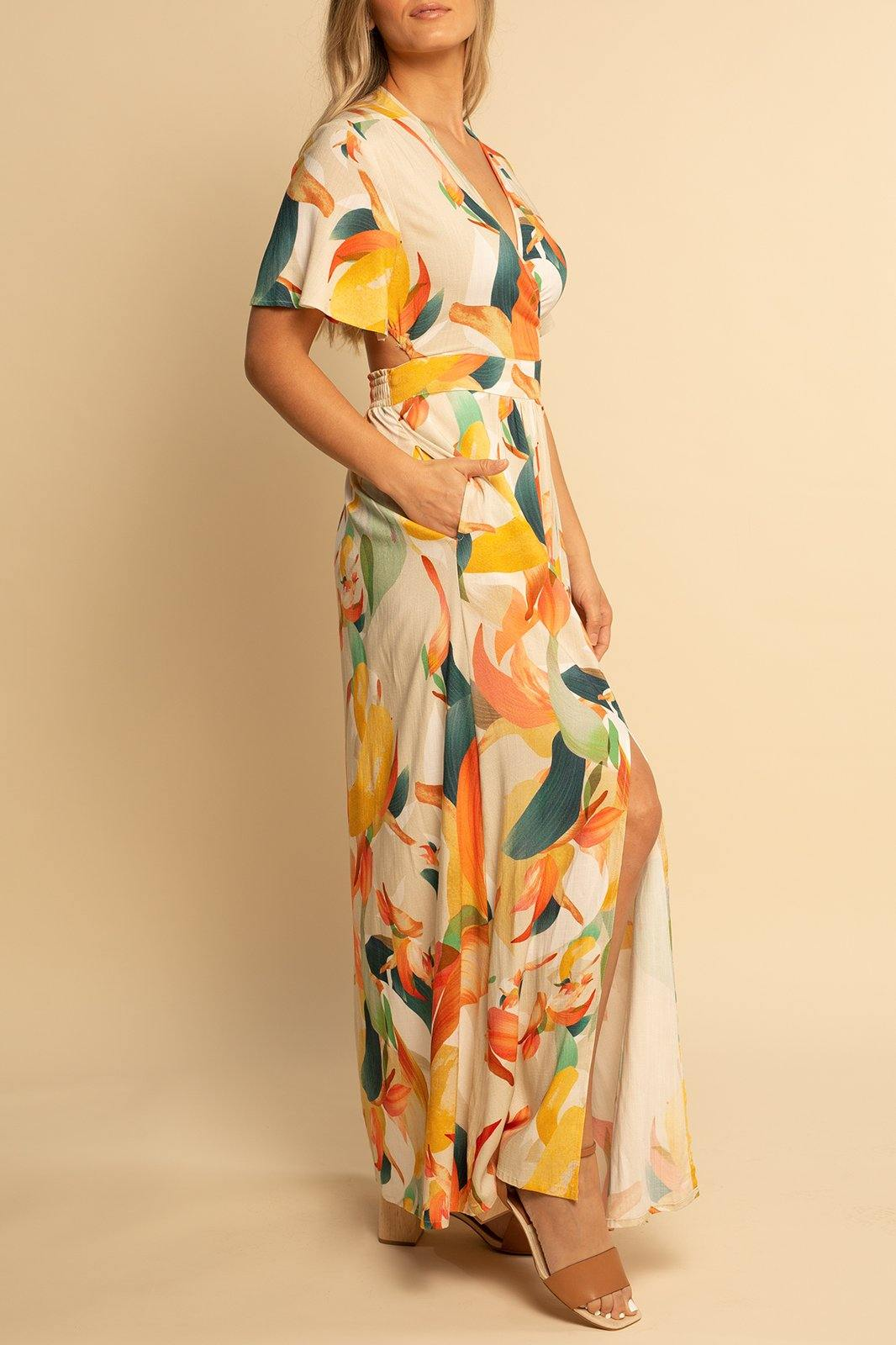 Catalina Cut Out Maxi - Color Splash