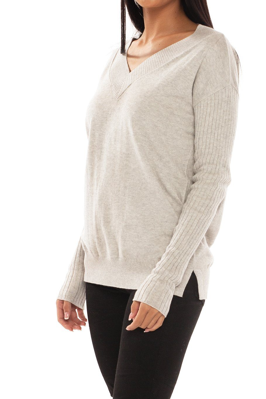 Telluride V-Neck Classic Sweater - Buff - Shore