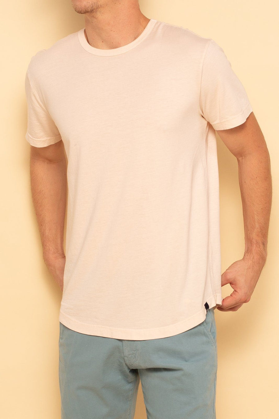 Short Sleeve Curve Hem Tee - Blush - Shore