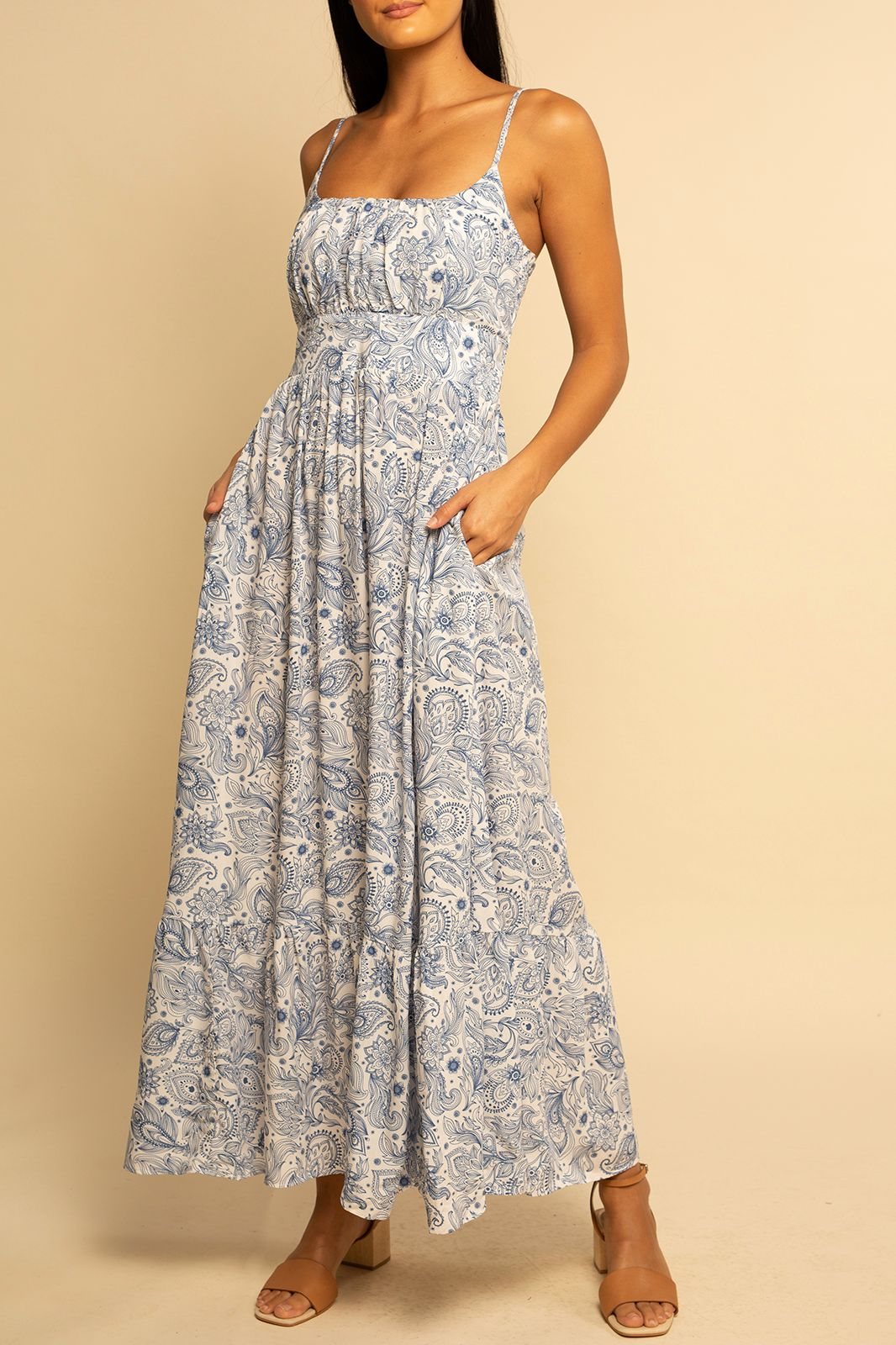 PREORDER | Seaside Dress - Blue Paisley - Shore