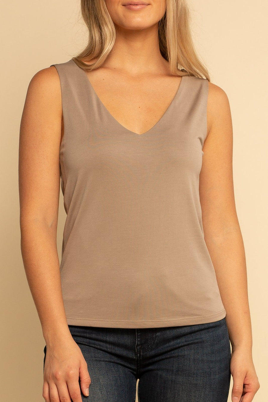 Deep V Tank - Dark Cocoa - Shore