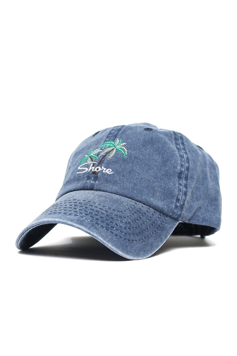 Shore Double Palm Logo Cap - Denim - Shore