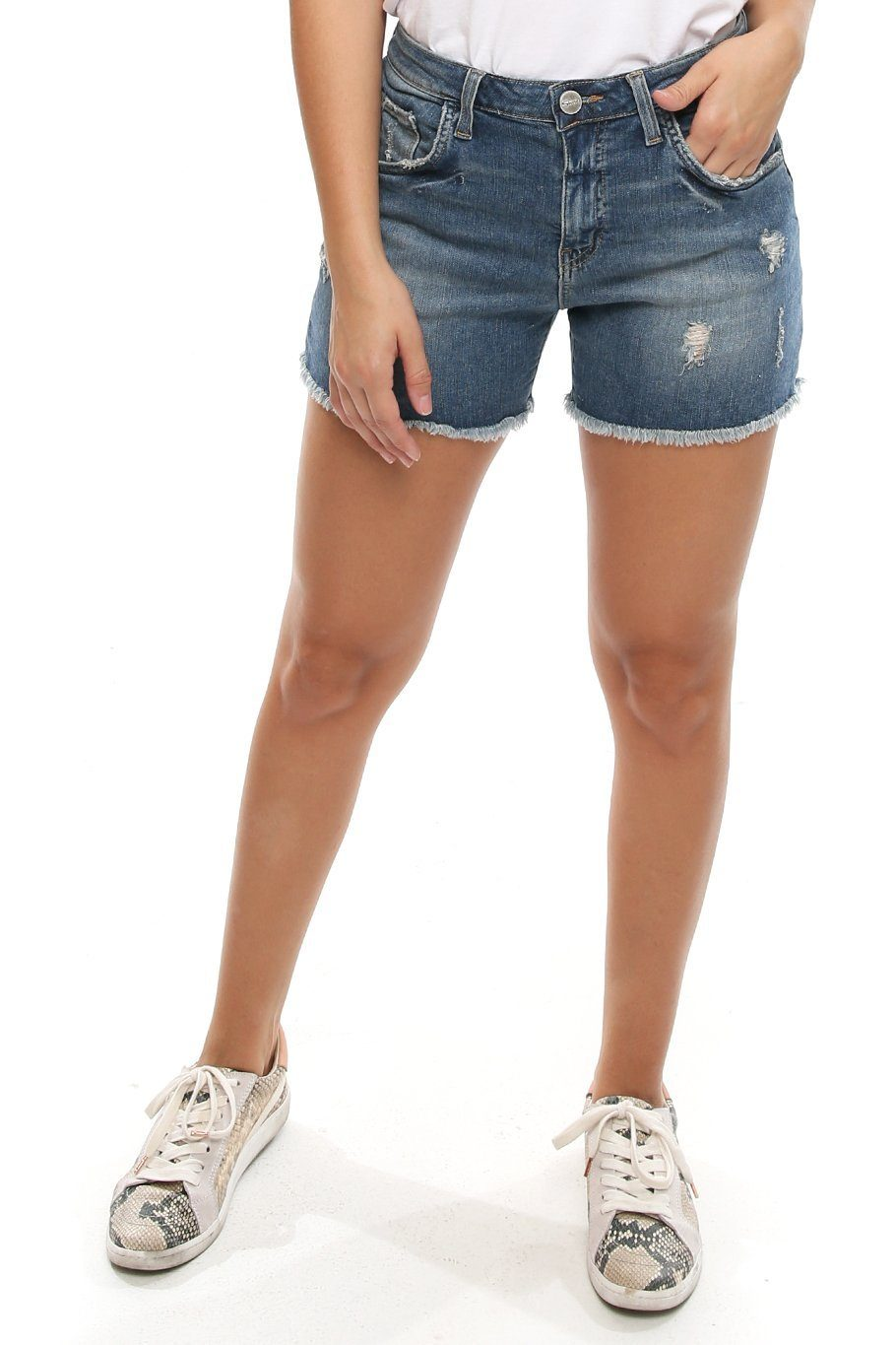 Sardina Longline Shorts - Light Wash - Shore