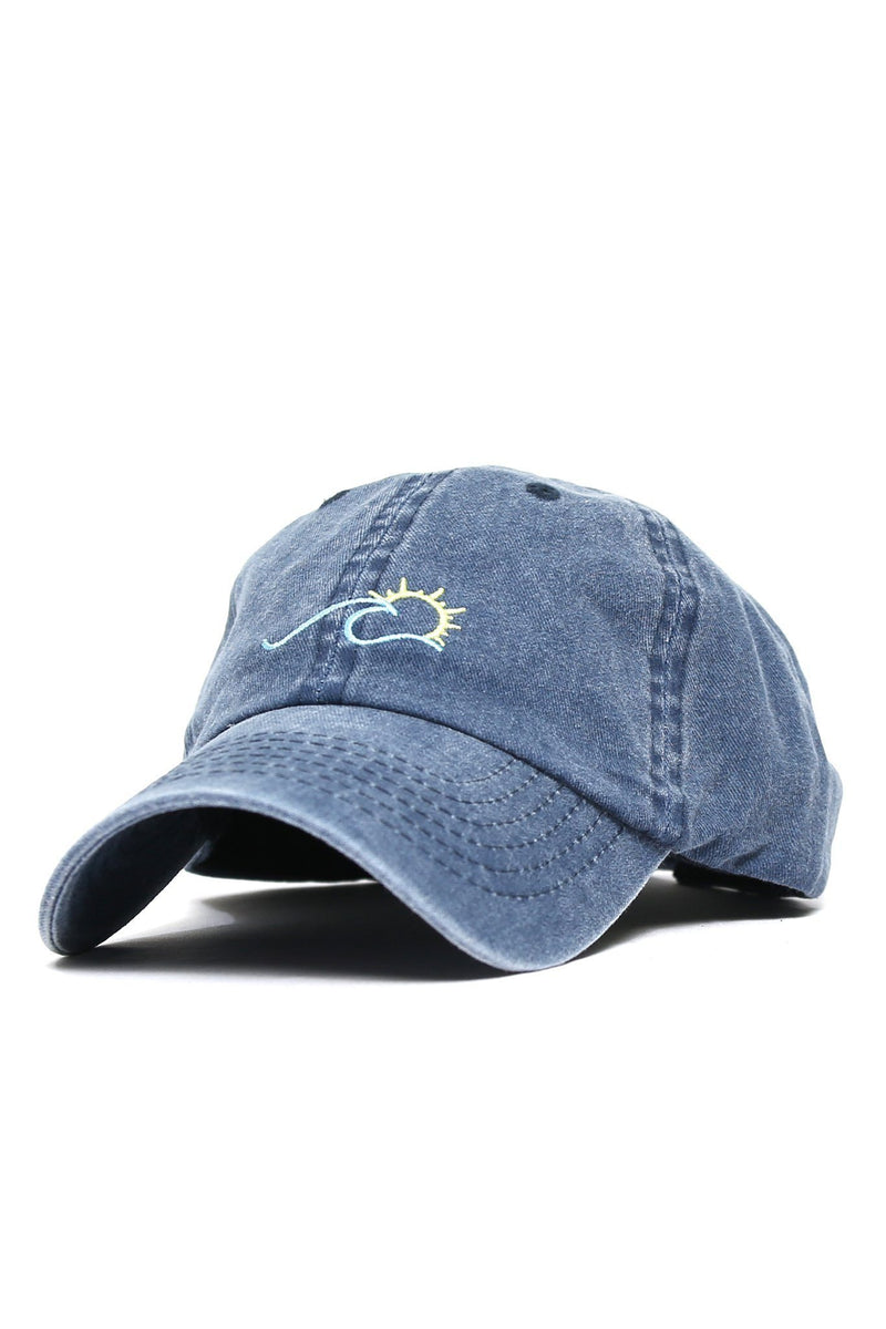 Sun Wave Color Logo Cap - Denim - Shore