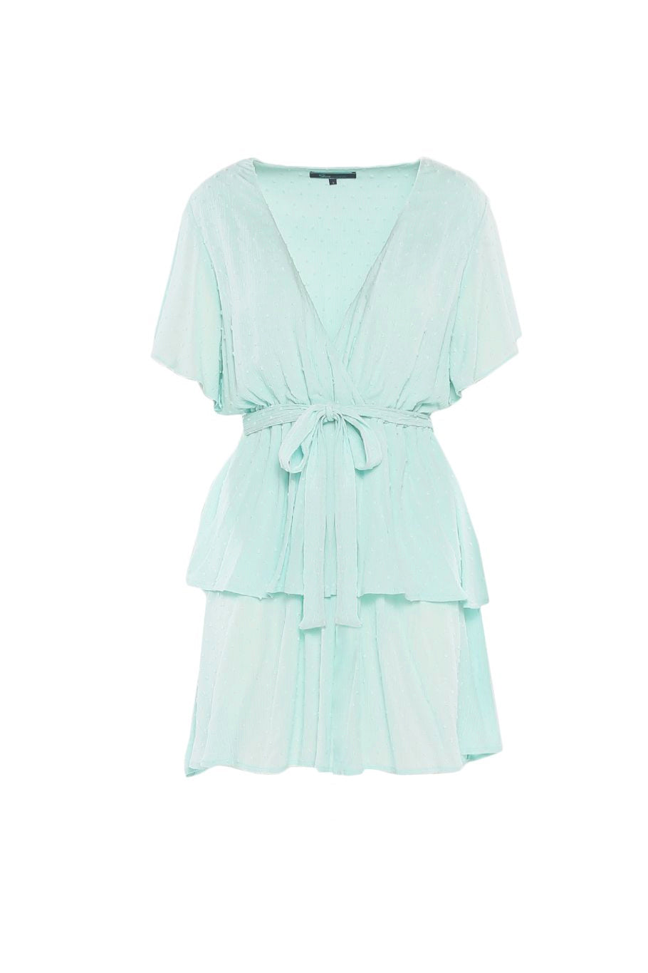 Savannah Ruffle Dress - Dew - Shore