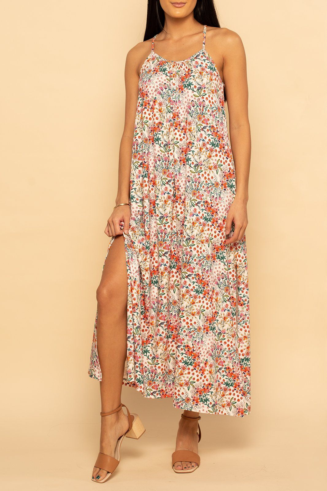 Marbella Maxi - Ditsy Colorful Floral - Shore