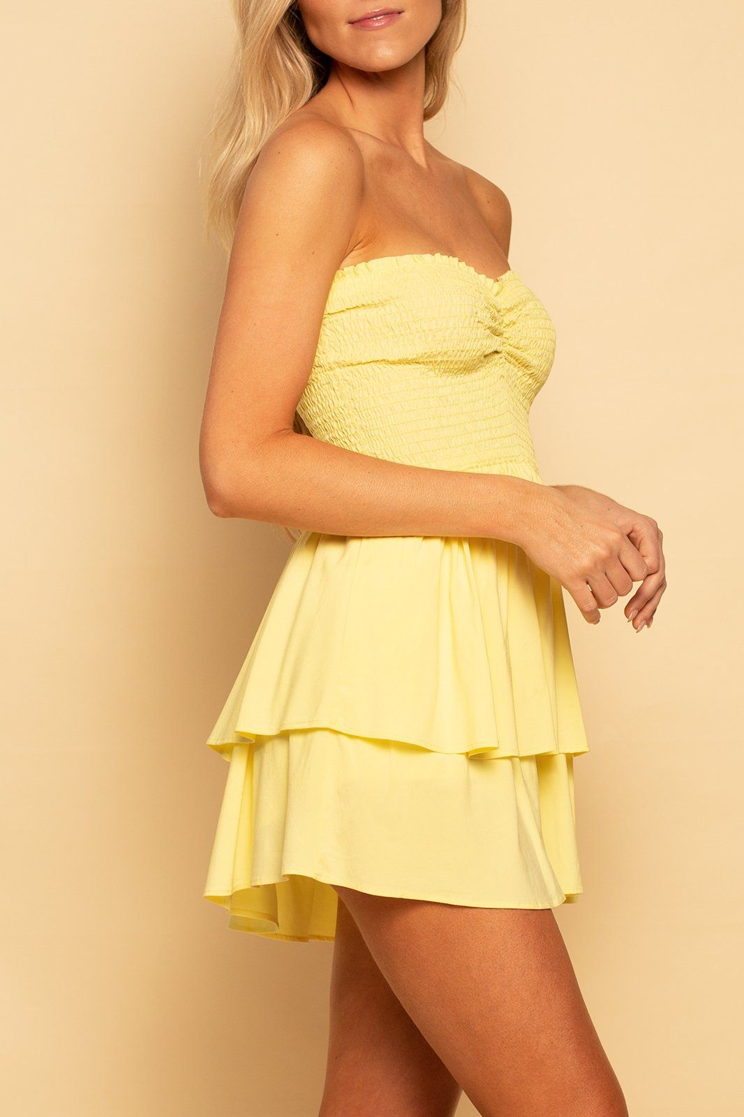Malibu Smocked Skort Dress - Sunshine - Shore