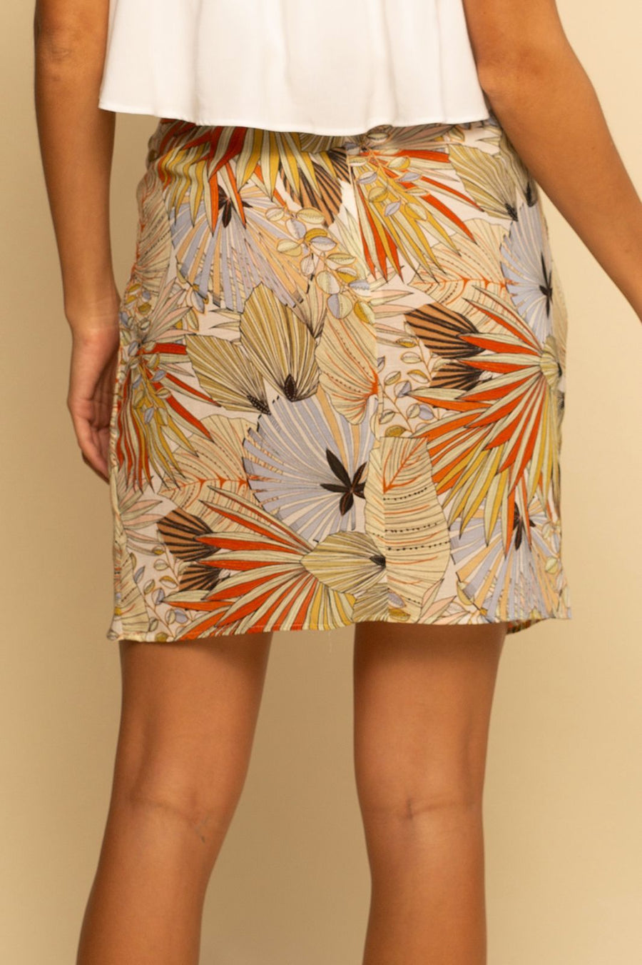 Tropics Skirt - Abstract Hawaiian - Shore