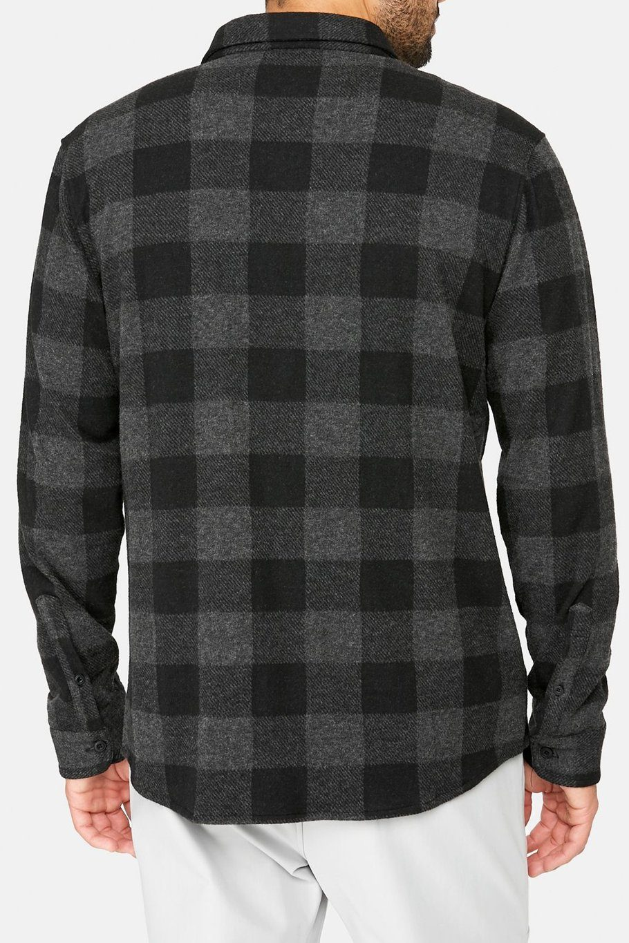 North Star Sweater Flannel - Charcoal - Shore