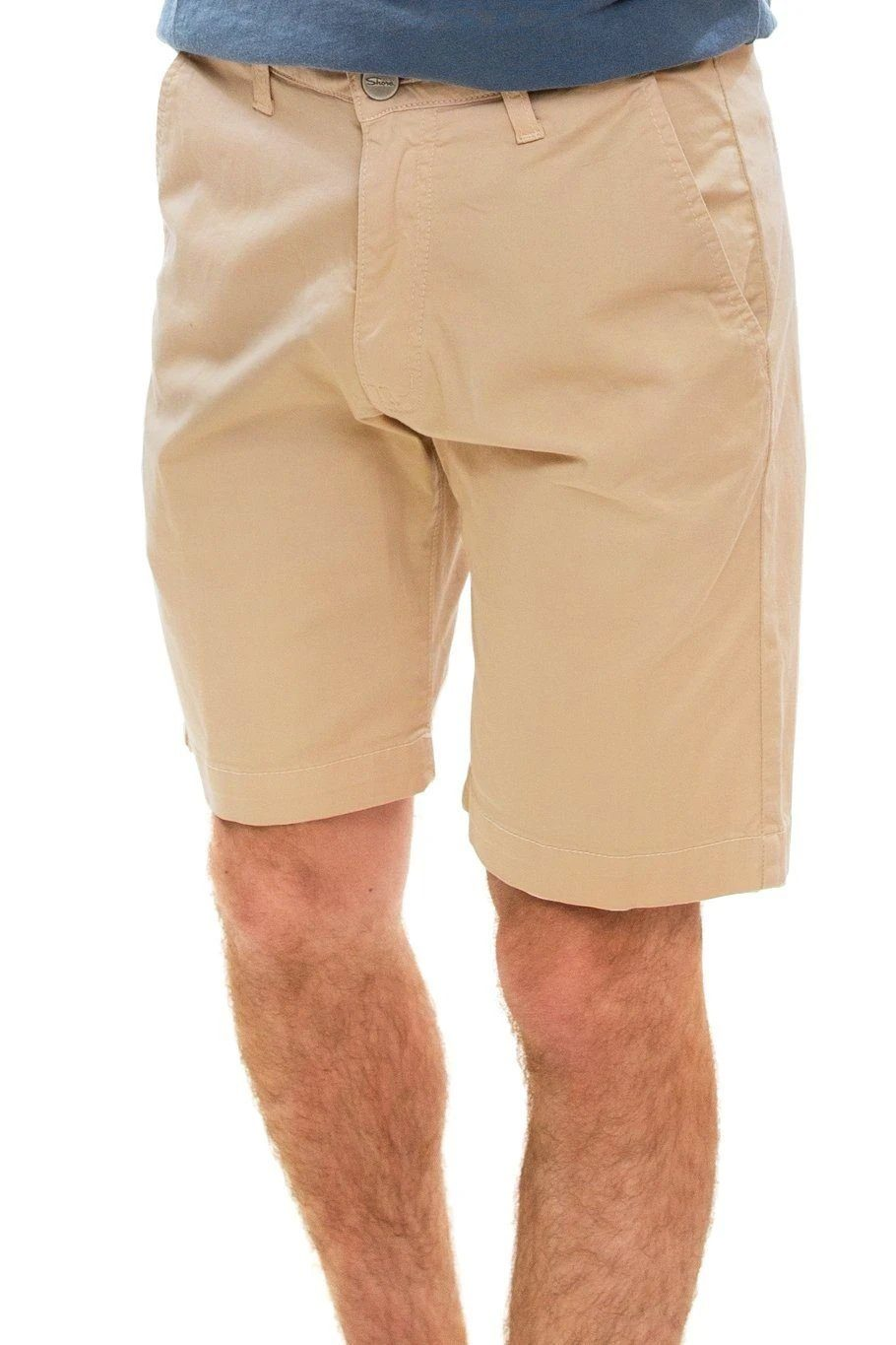 "Liam 9"" Flat Front Short - Safari - Shore"