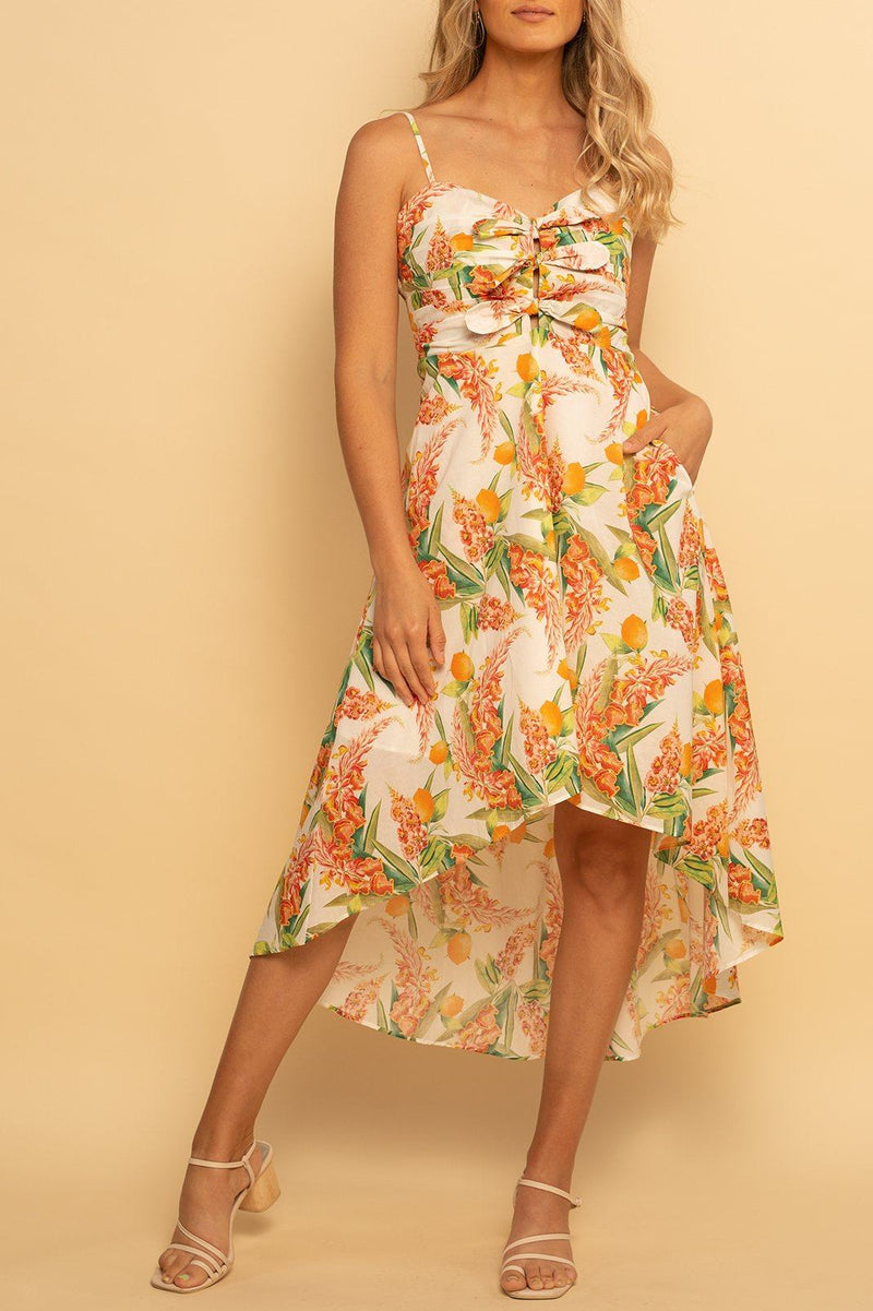 Florence Hi-Lo Dress - Sunshine Citrus - Shore