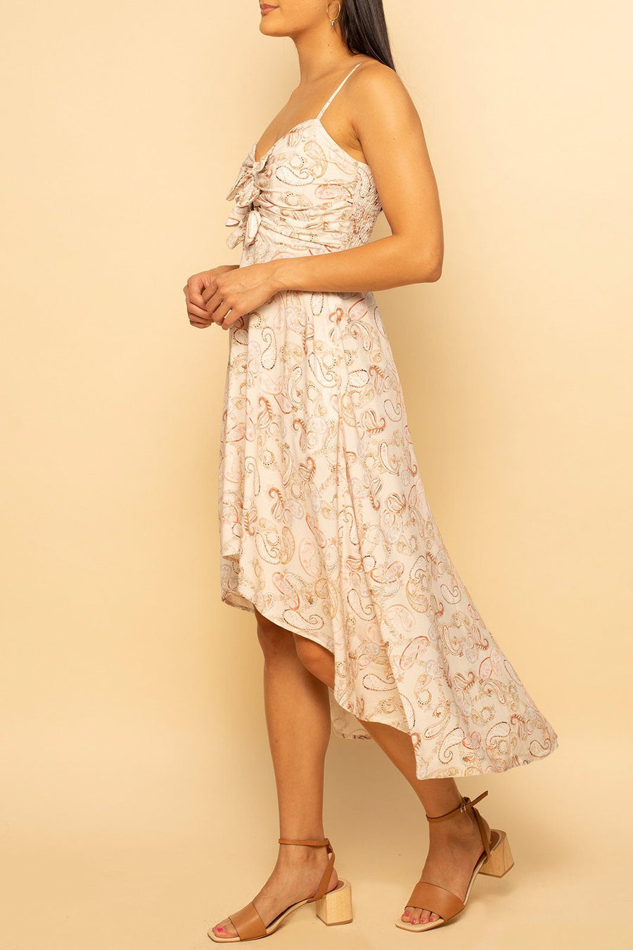 Florence Hi-Lo Dress - Pale Paisley