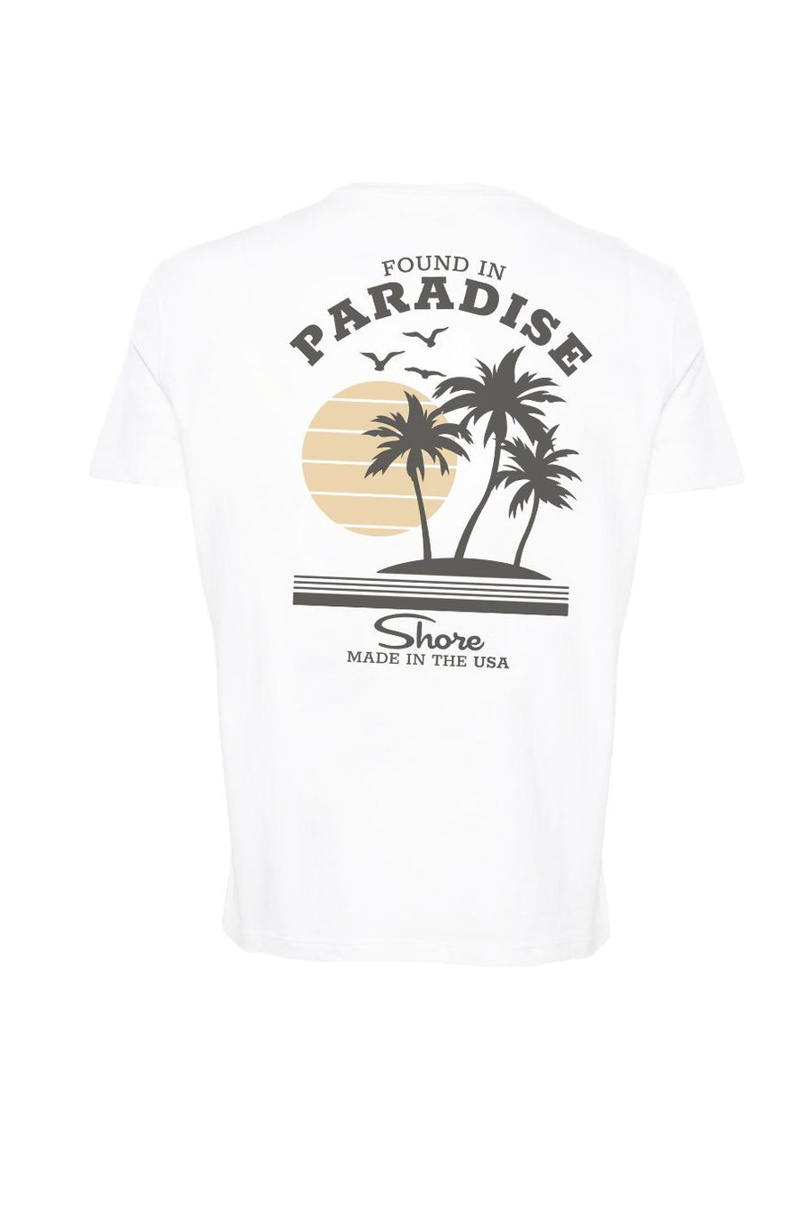Found In Paradise Crew Tee - White
