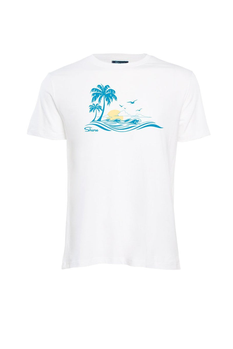 Beach Crew Tee - White - Shore